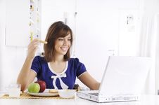 Free Breakfast Of Young Woman Stock Photography - 16895372