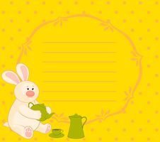 Free Bunny With  Cups And Tea-pot Stock Photography - 16895742