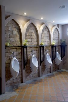 Men Toilet. Stock Image
