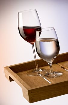 Free Red Wine And Water Royalty Free Stock Photography - 16895817