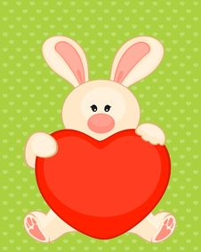 Free Bunny With Heart Stock Photography - 16896542