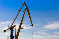 Free Port Cranes Royalty Free Stock Photos - 16896618