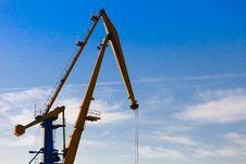 Free Port Cranes Royalty Free Stock Photos - 16896618