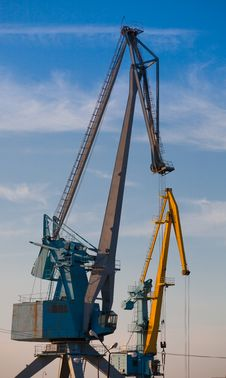 Free Port Cranes Stock Image - 16896721