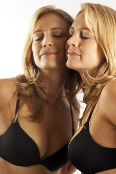 Free Woman With Face Pressed Against Mirror Stock Photo - 16897370