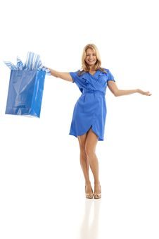 Free Woman Holding Shopping Bag Royalty Free Stock Images - 16897599