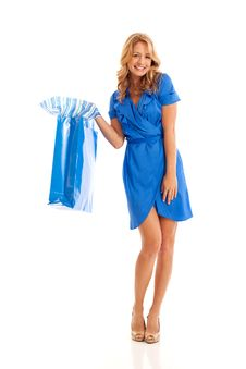 Free Woman Holding Shopping Bag Royalty Free Stock Images - 16897639