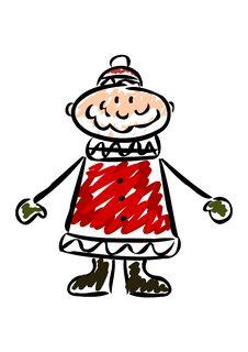 Cartoon Santa Royalty Free Stock Photos