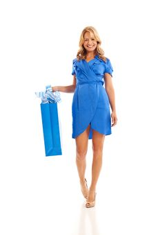 Free Woman Holding Shopping Bag Stock Photo - 16897650