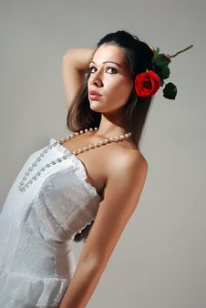 Free Young Woman In A White Dress Stock Photos - 16898203