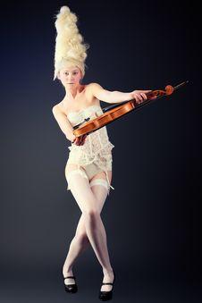 Violin Art Stock Images