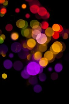 Magical Lights. Royalty Free Stock Photo