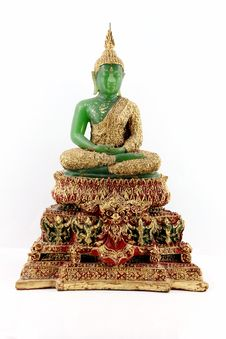Free Emerald Buddha For Rainy Royalty Free Stock Photography - 16899217