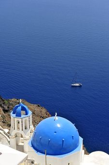 Free Church Bells On Santorini Island Royalty Free Stock Photography - 16899447