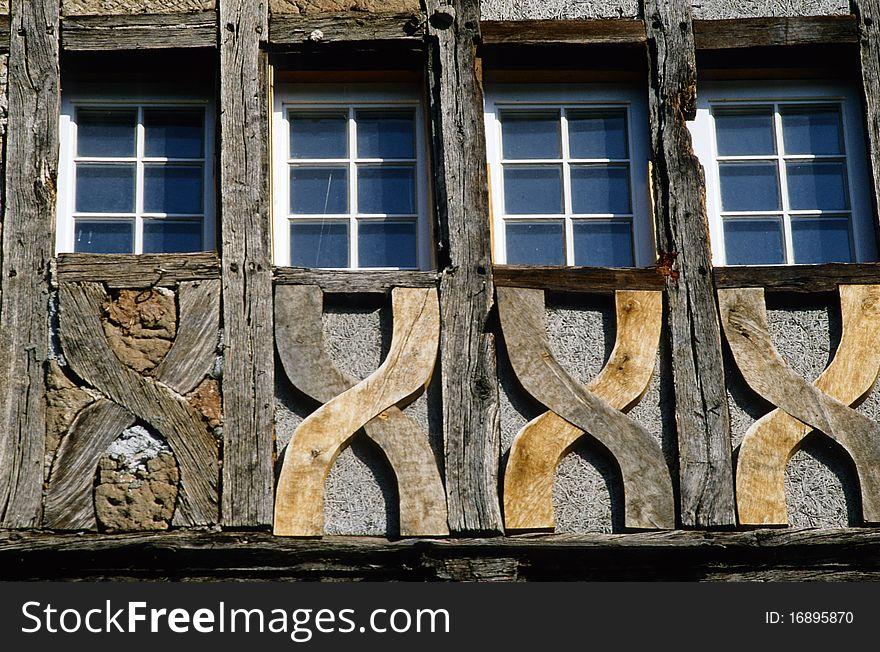 Four windows at a carcass house