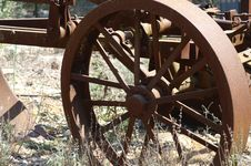 Old Wheel  - A Part Of Rust Plow Royalty Free Stock Photos