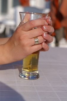 Free A Woman Drinking Beer Stock Photo - 1690210