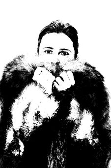 Free Woman In Fur Stock Photography - 1690292