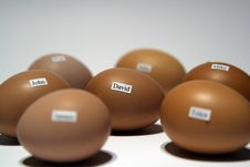Free Eggs With Names Stock Photography - 1690852
