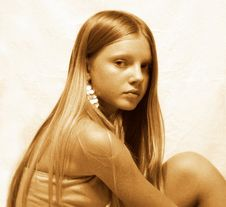 Free Portrait Of Young Model Stock Image - 1691511