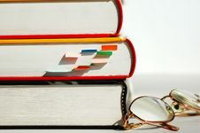 Free Three Books And Glasses Royalty Free Stock Photo - 1691975
