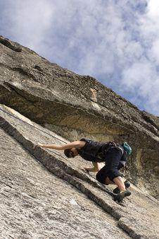 Free Women Climbing In Yosemite 2 Stock Images - 1693354