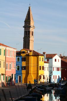 Free A Burano View Royalty Free Stock Photography - 1695447