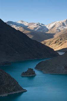 Tibetan Reservoir Stock Images
