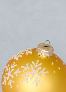 New Year Toy -  Yellow Ball Royalty Free Stock Images