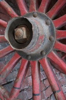 Free Old Wheel Detail Royalty Free Stock Photo - 1697095