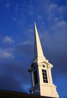 Sundown Church Steeple 2 Stock Photography