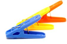 Free Colorful Clothespin Stock Photo - 1697790