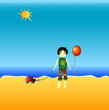 Free Little Boy On The Beach Royalty Free Stock Photo - 1697925