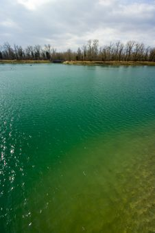 Turquoise Lake Stock Photography