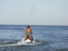 Jet Skier Stock Photo
