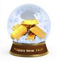 Free Christmas Snow Globe On White Background Royalty Free Stock Images - 16904559