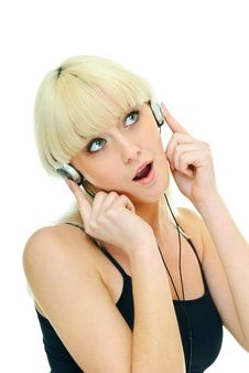Free Girl And Music Royalty Free Stock Photos - 16900608