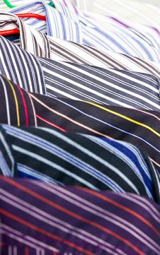 Close-up Rack Colorful Shirts Royalty Free Stock Photography