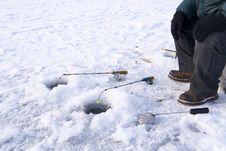 Free Winter Fishing Closeup Royalty Free Stock Photos - 16901068