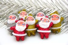 Free Some Dolls Of Santa Claus Are Together Royalty Free Stock Image - 16901216