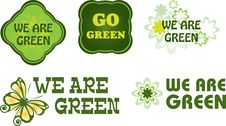 Free Go Green Labels Royalty Free Stock Photo - 16901525