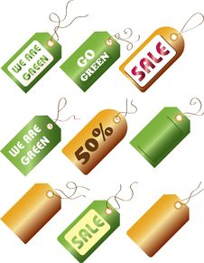 Free Go Green / Sale Tags Royalty Free Stock Photography - 16901527