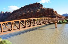 Free Moab Mountain Bike Bridge Royalty Free Stock Images - 16901629
