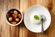 Free Pork Stew With Egg And Rice. Stock Photography - 16901642