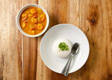 Free Shrimp Curry With Rice. Royalty Free Stock Images - 16901969