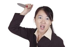 Free Businesswoman With Knife Stock Photos - 16902073
