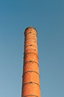 Old Cracked Brick Chimney Royalty Free Stock Photos