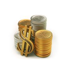 Free Coins Royalty Free Stock Photo - 16902555