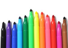 Free Colored Marker Pen Stock Photo - 16903070