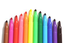 Free Colored Marker Pen Stock Photos - 16903083